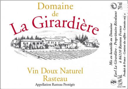 Vin Doux naturel Rasteau - Domaine de la Girardière - Non millésimé - Rosé