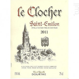 Le Clocher - Saint-Emilion - Dourthe - 2016 - Rouge