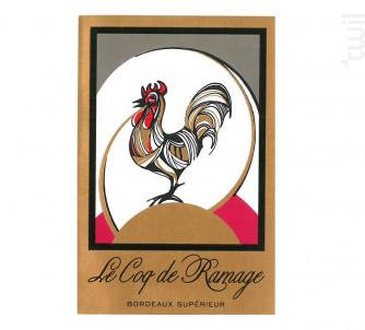 Le Coq de Ramage - Château de Belcier - 2016 - Rouge