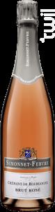Crémant de Bourgogne Brut rosé - Simonnet Febvre - Non millésimé - Effervescent