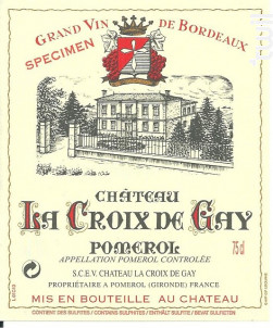 Château La Croix de Gay - Château La Croix de Gay - 2017 - Rouge