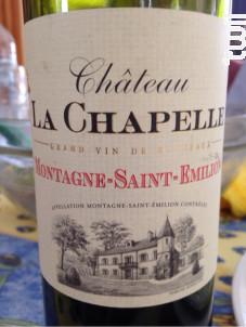 Château La Chapelle - Château La Chapelle - 2010 - Rouge