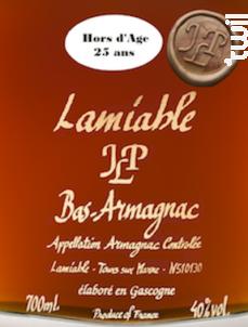 Armagnac 25 ans d'age - Domaines Lamiable - Non millésimé - Blanc