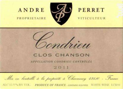 Clos Chanson - André Perret - 2002 - Blanc