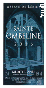Sainte-Ombeline - Abbaye de Lérins - 2016 - Blanc