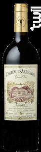 Grand Vin - Château d'Arricaud - 2008 - Rouge