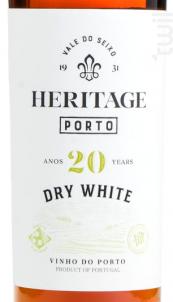 Heritage Porto Blanc 20 ans d'âge Sec - Heritage Porto & Douro - Non millésimé - Blanc