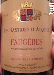 Les Bastides d'Alquier - Domaine Jean-Michel Alquier - 2015 - Rouge