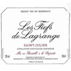 Les Fiefs de Lagrange - Château Lagrange - 2016 - Rouge