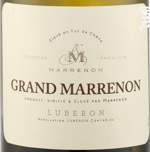 Grand Marrenon - Marrenon - 2019 - Blanc