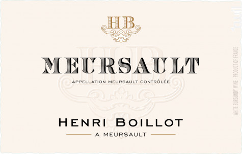 Meursault - Maison Henri Boillot - 2018 - Blanc