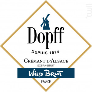 Crémant d'Alsace Wild Brut - Dopff Au Moulin - 2015 - Effervescent