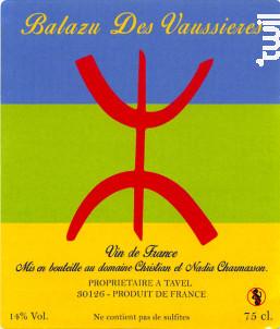 Cuvée Vin Libre - Balazu des Vaussieres - 2012 - Blanc