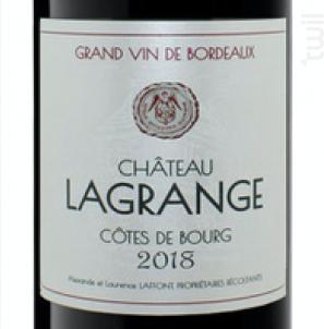 Château Lagrange - Château Lagrange • Côtes de Bourg - 2019 - Rouge