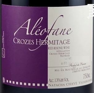 Crozes Hermitage - Domaine Aléofane - 2017 - Rouge