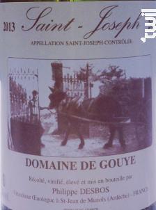 Saint Joseph - Domaine de Gouye - 2016 - Blanc