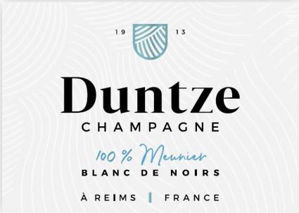 100% Meunier - Champagne Duntze - Non millésimé - Effervescent