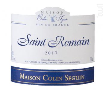 Saint Romain Excellence - Maison Colin Seguin - 2017 - Blanc
