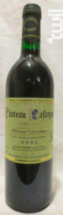 Château Lafargue - Château Lafargue - 1992 - Rouge