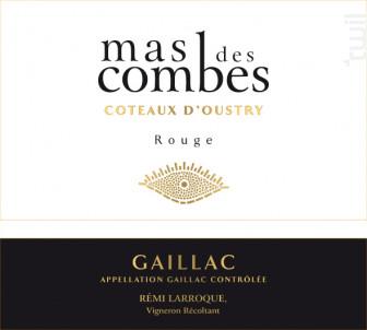 Cuvée Coteaux d'Oustry - Mas des Combes - 2017 - Rouge
