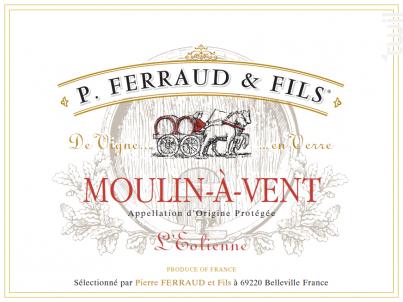 Moulin à Vent - L'Eolienne - P. Ferraud & Fils - 2016 - Rouge