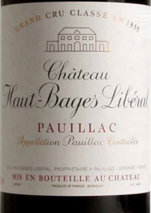 Château Haut-Bages Libéral - Château Haut-Bages Libéral - 2017 - Rouge