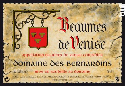 Beaumes de Venise - Domaine Des Bernardins - 2018 - Rouge