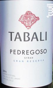 PEDREGOSO GRAN RESERVA - SYRAH - TABALI - 2017 - Rouge