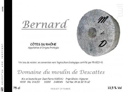 Cuvée Bernard - Domaine du Moulin de Descattes - 2015 - Rouge