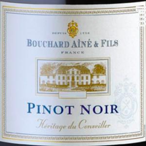 Héritage du Conseiller Pinot Noir - Bouchard Aîné et Fils - 2016 - Rouge
