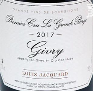 La Grande Berge - Louis Jacquard - 2017 - Rouge