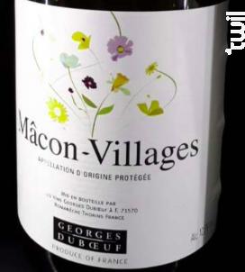 Mâcon - Villages - Domaine Duboeuf - 2010 - Blanc