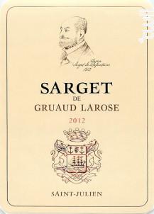Sarget de Gruaud-Larose - Château Gruaud-Larose - 2012 - Rouge