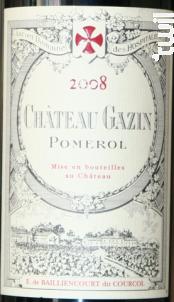 Chateau Gazin - Château Gazin - 2007 - Rouge