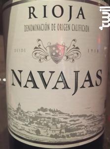 Rioja Navajas Crianza - Bodega Navajas - 1998 - Rouge