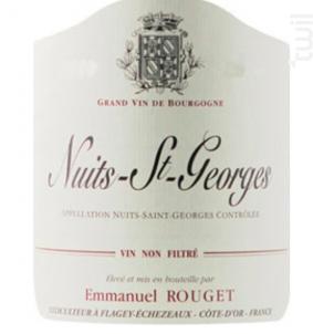 NUITS SAINT GEORGES - Domaine Emmanuel Rouget - 2015 - Rouge