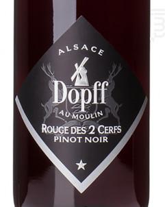 Pinot Noir Rouge des 2 Cerfs - Dopff Au Moulin - 2018 - Rouge