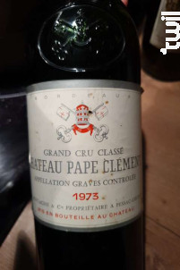 Château Pape Clément - Château Pape Clément - 1973 - Rouge