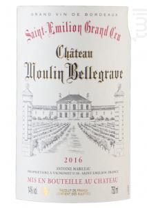 Château Moulin Bellegrave - Château Moulin Bellegrave - 2016 - Rouge