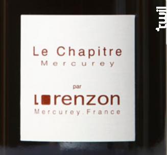 Le Chapitre - Lorenzon - 2016 - Rouge