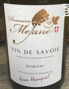 Jacquère - Domaine  de Méjane - 2019 - Blanc