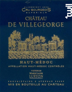 Château de Villegeorge - Château de Villegeorge - 2009 - Rouge