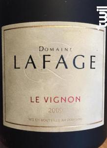 Le Vignon - Domaine Lafage - 2017 - Rouge