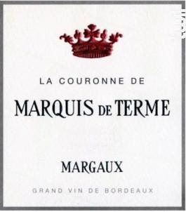 La Couronne de Marquis de Terme - Château Marquis de Terme - 2011 - Rouge