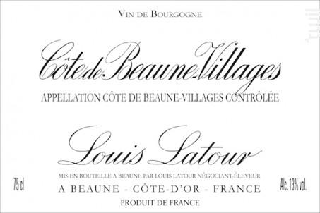 Côte-de-Beaune-Villages - Maison Louis Latour - 2016 - Rouge