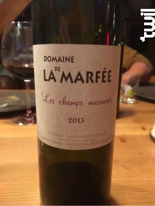 Frissons D' Ombelles Marfee - Domaine de la Marfée - 2015 - Blanc