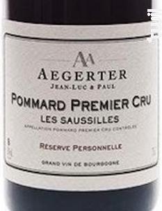 Pommard 1er Cru Les Saussilles - Jean Luc et Paul Aegerter - 2013 - Rouge