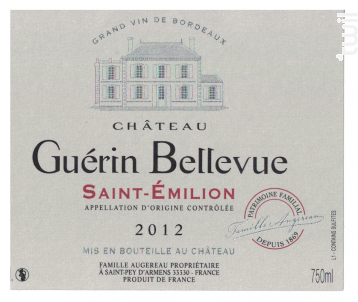 Château Guérin Bellevue - Château Guérin Bellevue - 2012 - Rouge