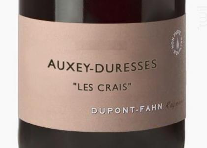 Les Crais - Domaine Dupont-Fahn - 2014 - Rouge