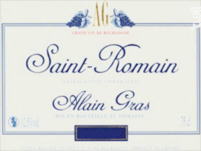 Saint-Romain - Domaine Alain Gras - 2015 - Rouge
